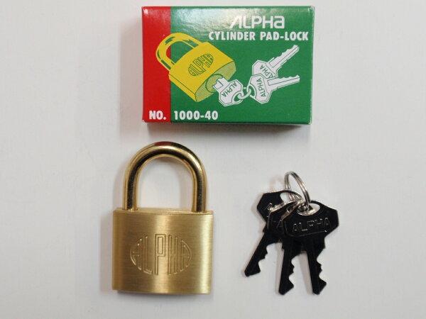 ALPHA(アルファ)シリンダー南京錠No.100035mm同一鍵30E040