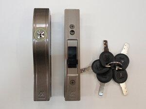 ALPHA(アルファ) F4056-ALU 万能型 引違戸錠 ブロンズ 引戸錠 ディンプルキー 防犯 鍵 交換 アルミサッシ 玄関 扉 ドア
