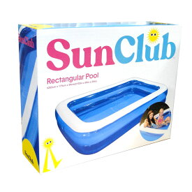 [SunClub] ビニールプール ジャンボ 大型 家庭用 子ども ジャンボプール 262cm ガーデンプール