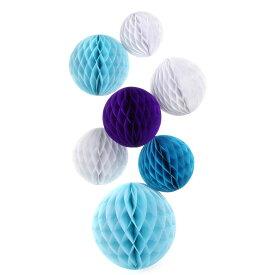 はんなり ハニカム ボール 3 サイズ 6個 セット ブルー系 【送料無料】ctr-883