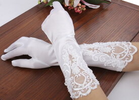 ウェディンググローブ レース と ビーズ で キレイ かわいい 結婚式 手袋!コスプレにも 【送料無料】ctr-924