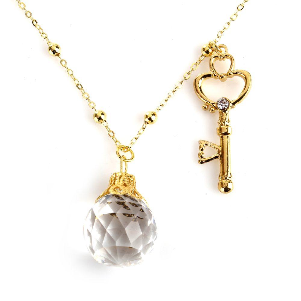 美少女戦士 セーラームーン 幻の銀水晶 & 時空の鍵 ネックレス ペンダント アクセサリー 【送料無料】ctr-c68