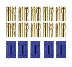 【5組セット】5mm ec5 コネクター 大容量 RC バッテリー と ESC(アンプ)の接続 モーター配線 に 【送料無料】ctr-e27