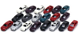 Nゲージ ジオラマ ミニカー 1/100スケール 20台セット 建築モデル ミニカー カラフル プラスチック 【送料無料】ctr-g83