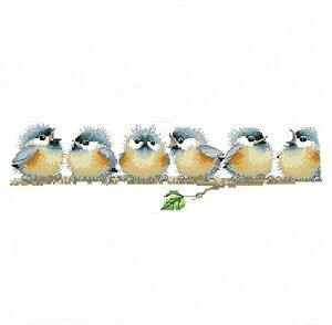 【送料無料】6羽小鳥 刺繍キット クロスステッチ キット 中級者 刺繍 クロス ステッチ 刺しゅうキット ししゅう おしゃれ 手芸 手作り 手芸キット ハンドメイド 鳥 動物 かわいい 北欧 mmk-e26
