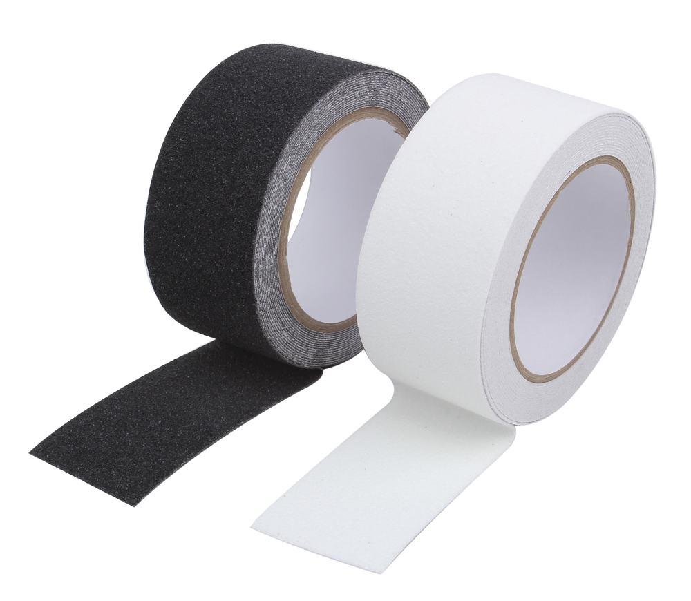 【2色セット】 滑り止め テープ ロール タイプ 屋外 階段 50mm×5m ホワイト & ブラック 【送料無料】mmk-g61