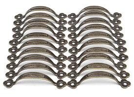 【20個セット】 おしゃれで すてきな アンティーク調 取っ手 真鍮 イエローブロンズ 【送料無料】mmk-h25