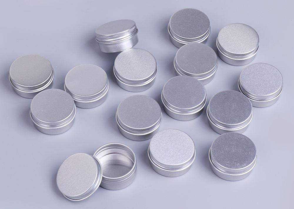 15個入りセット 15g 化粧品用 詰め替えボトル アルミ製 小分け容器 クリームケース 詰め替え容器 携帯用 【送料無料】mmk-i85