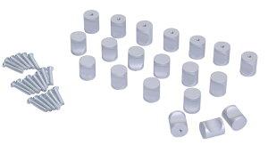 取っ手 つまみ 20個 セット ネジ 付き 引出し ノブ 家具 収納 diy 工具 【送料無料】mmk-j12