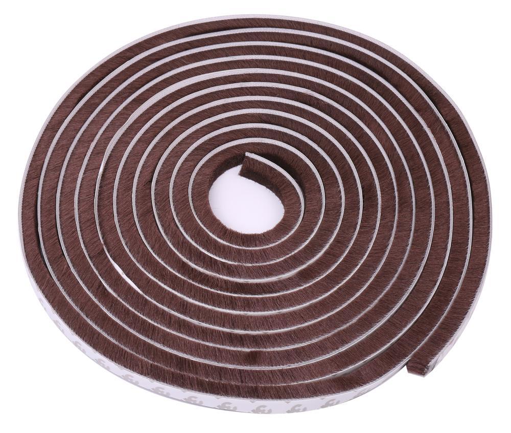 隙間テープ 窓 ドア 防風 防音 防水 防虫 毛足 5m ブラウン 隙間 対策 テープ 【送料無料】mmk-j81