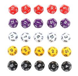 【25個セット】 12面 サイコロ 小 ゲーム ダイス おもちゃ 5色各5個 カラフル 20mm 【送料無料】mri-a65