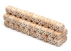 【50個セット】 麻雀 用品 サイコロ 小 ゲーム ダイス おもちゃ ナチュラルウッド 12mm 【送料無料】mri-a67