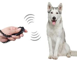 ペット クリッカー トレーニング 犬 猫 しつけ 訓練用品 かわいい 肉球型 リストストラップ付 ブラック 【送料無料】mri-a90