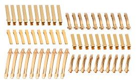 アクセサリー パーツ ヘアクリップ ゴールド 3サイズ各10個& バレッタ 3サイズ各10個 セット DIY 素材 【送料無料】mri-b67