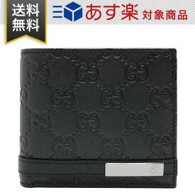 863e0811f59a グッチ 財布 メンズ 二つ折り財布 GUCCI アウトレット 365481 AA61R 1000 グッチシマ レザー ブラック 黒
