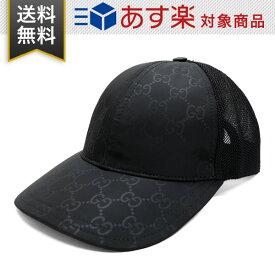 グッチ 帽子 GUCCI アウトレット ナイロン 510950 4HD47 1000 HAT M BASEBALL OUTL GG NYLON L ベースボールキャップ GG柄 ブラック メンズ レディース