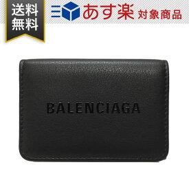 バレンシアガ エブリデイ ミニ ウォレット BALENCIAGA メンズ レディース 三つ折財布 551921 DLQ4N 1065 レザー ブラック