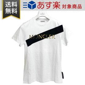 モンクレール レディース Tシャツ MONCLER E2 093 8091250 V8094 001 T-SHIRT GIROCOLLO クルーネック ホワイト ※ハンガー付属無し