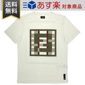 フェンディ Tシャツ FENDI FY0894 ABQY F0QG1 メンズ コットン オフホワイト