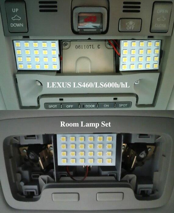 専用設計!!レクサスLS (前期/中期) LED(SMD) F/R ルームランプ!! LEXUS LS460/LS600h/hL