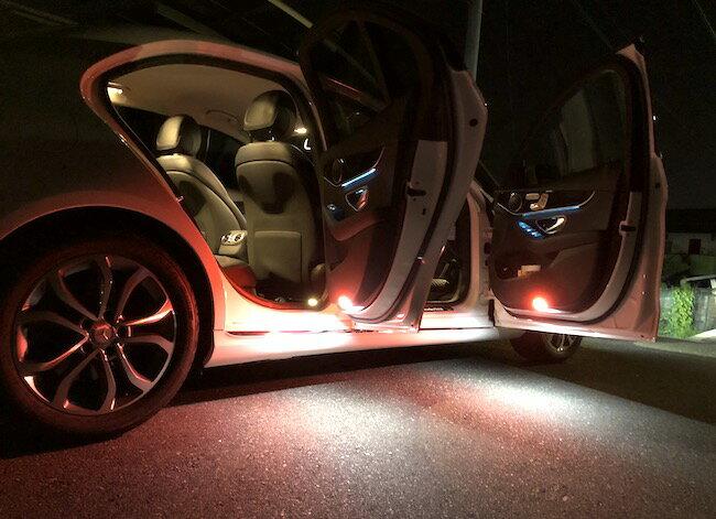 メルセデスベンツ Cクラス W205/Epistar 3030 monster LEDドアカーテシランプ/Benz-C/W205