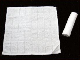 70匁白格子 おしぼり 8×8マス(60枚)小ロッド!日用品雑貨・文房具・手芸・タオル・その他