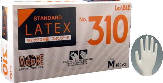 リーテック No.310 ラテックススタンダード 粉付M手袋 (100枚入)激安!ラテックス手袋 キッチン用品・食器・調理器具・キッチン用品・雑貨・エプロン・キッチングローブ・使い捨て手袋