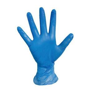 ハイブリッド手袋(PVC&ニトリルの配合)Sサイズ・Mサイズ・Lサイズ ブルー 粉なし(100枚入) 日用品雑貨・文房具・手芸・生活雑貨・作業用手袋・軍手・ゴム手袋・ビニール手袋
