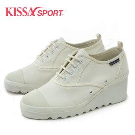 キサスポーツ KISSA SPORT KS8410 WHITE 厚底スニーカー ホワイト