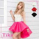 【max88%off】【あす楽】 お化けの日 Tika ティカ メッシュ フレア スカート ホワイト ピンク レッド ブラック 大人 …