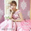 【全品半額 セール 】【送料無料】Tika USA L.Aインポートドレス 花柄 コルセット スカートロングドレス ピンク XS〜X…