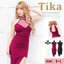 【最大88%off】Tika ティカ シースルーホルターネックアシメントリータイトミニドレス (ホワイト/パープル/ブラック) (Sサイズ/Mサイズ/Lサイズ)