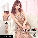【50%offクーポン配布】あす楽 Tika USA L.Aインポートドレス 刺繍 ラメ バックスピンドル マーメイドドレス ロングド…