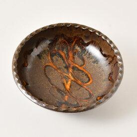 小代焼ふもと窯 ポン描き丸鉢(フチギザ)