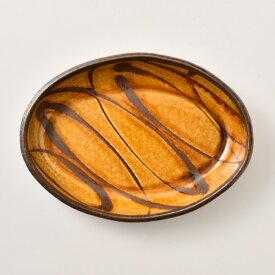 小代焼ふもと窯 スリップ楕円鉢 中