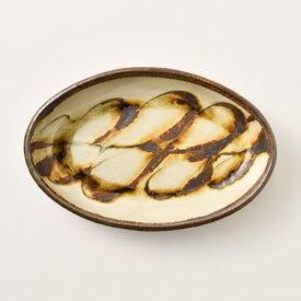 小代焼ふもと窯 スリップ楕円鉢 小