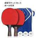 高品質 卓球ラケット2本セット ラバー貼り ボールセット ペンホルダー シェークハンド シェークラケット ペンラ…