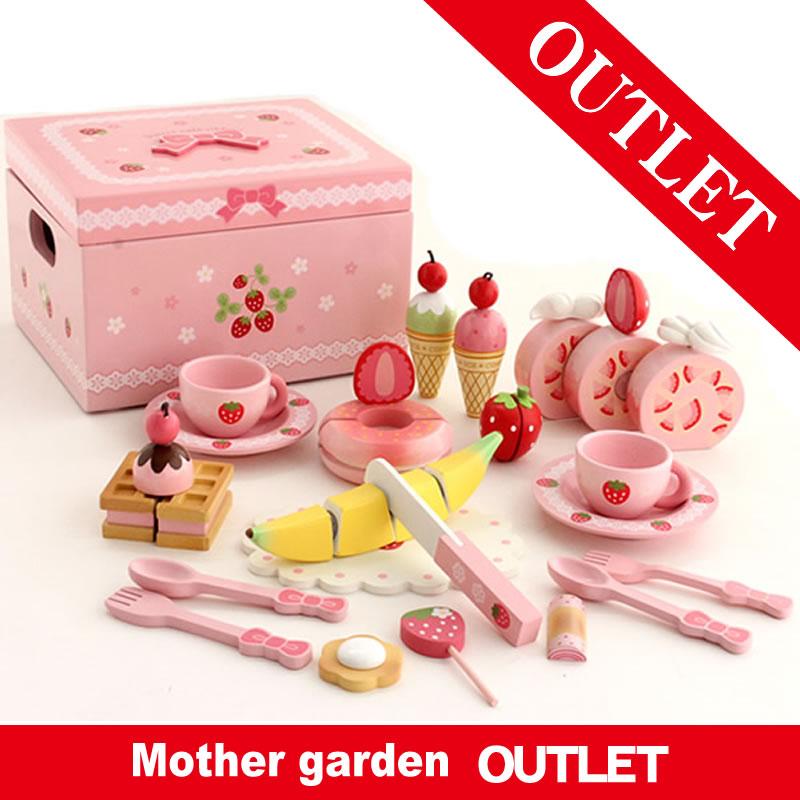 野いちご スウィートカフェリボン ピンク 訳あり お得20 マザーガーデン アウトレット ままごと おままごと 木製おもちゃ