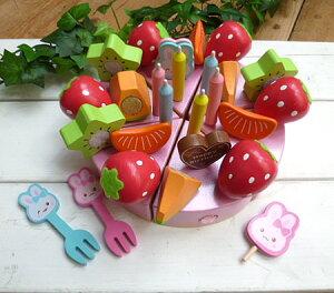 マザーガーデン うさもも キラキラデコレーションケーキ マザーガーデン アウトレット 訳あり お得20 木製おままごと キッチン おもちゃ 知育玩具 女の子 ピンク お誕生日 プレゼント 3歳 4