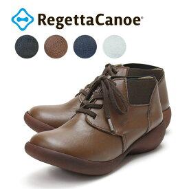 RegettaCanoe-リゲッタカヌー-CJAL-4102 アシンメトリーローウェッジソール サイドゴアレースアップショートブーツ