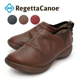 RegettaCanoe -リゲッタカヌー-CJAL-4109 アシンメトリーローウェッジヒール カジュアルゴアシューズ