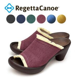 RegettaCanoe -リゲッタカヌー-CJBN-5732 バナナヒール デニムフリンジサンダル