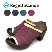 RegettaCanoe-リゲッタカヌー-CJBN-5732バナナヒールデニムフリンジサンダル