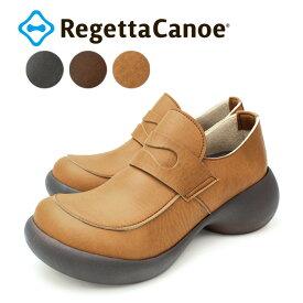 RegettaCanoe -リゲッタカヌー-CJES-6132 エッグヒール ローファー スリッポン シューズ レディース 厚底 歩きやすい 履きやすい
