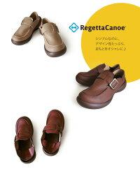 RegettaCanoe-リゲッタカヌー-CJFS-6910フィールドシューズメンズバックルベルトモカシンシューズ