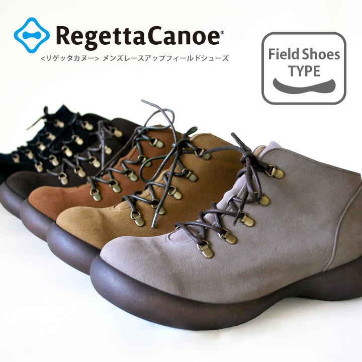 Regetta Canoe-リゲッタカヌー-CJFS-6904 フラットシューズ メンズレースアップショートブーツ