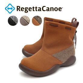 RegettaCanoe -リゲッタカヌー-CJOS-6312 オブリックシューズタイプ スエード調デザインショートブーツ