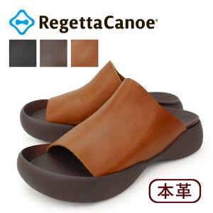 RegettaCanoe -リゲッタカヌー-CJOS-8503 メンズ サンダル 本革 カバーサンダル レザー 歩きやすい 履きやすい 日本製