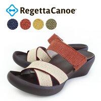 RegettaCanoe-リゲッタカヌー-CJLW-5534ウェッジヒールゴムベルト麻リネンサンダル