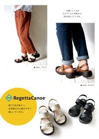 RegettaCanoe-リゲッタカヌー-CJLE-501リトルエッグヒールクロスベルトサンダル